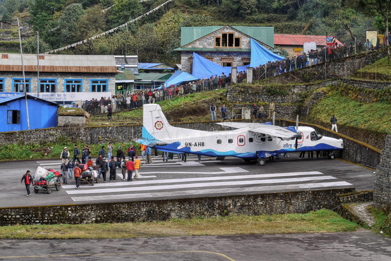 Download Lukla airport editorial stock image. Image of runway - 36431734