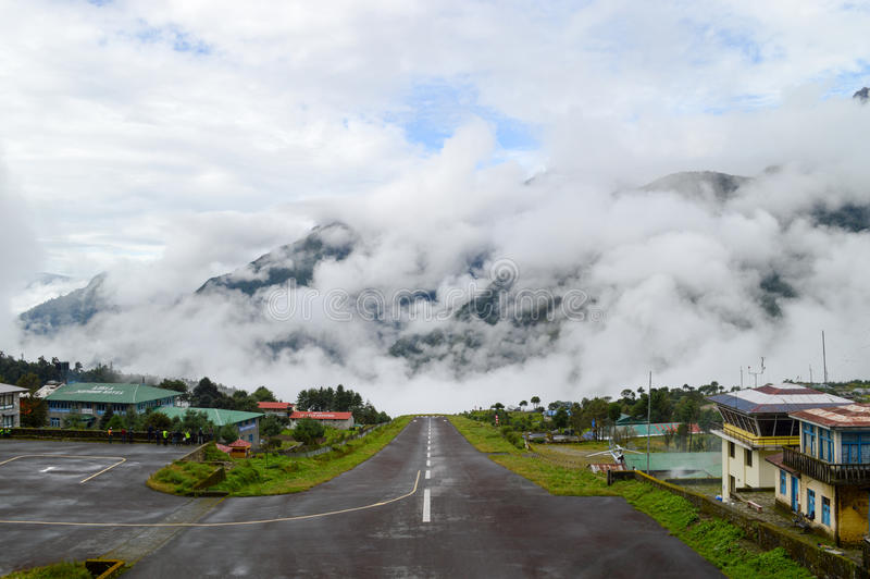 Lukla Runway stock photos