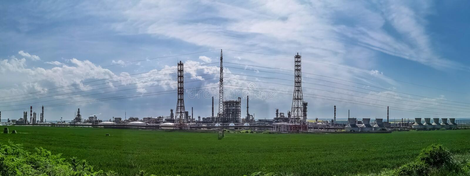 LUKOIL Neftochim Burgas. Based in Burgas, Bulgaria, is the largest oil refinery in the Balkans and the largest industrial enterprise in Bulgaria. Owned by royalty free stock photo