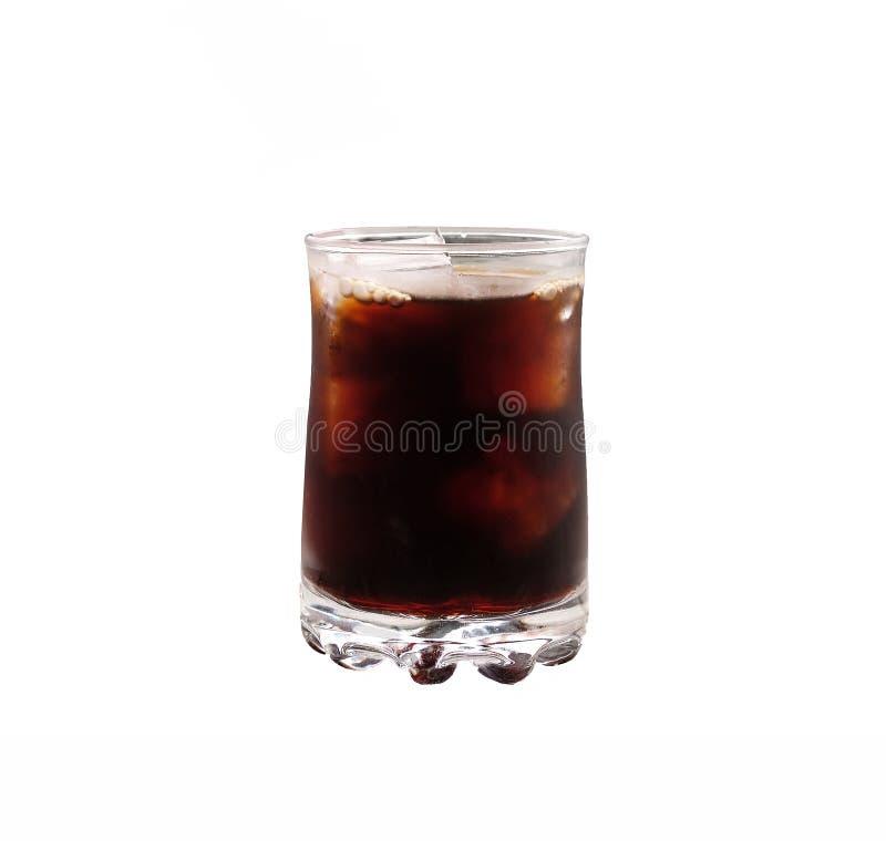 lukrowa czarna kawa na białym tle fotografia stock