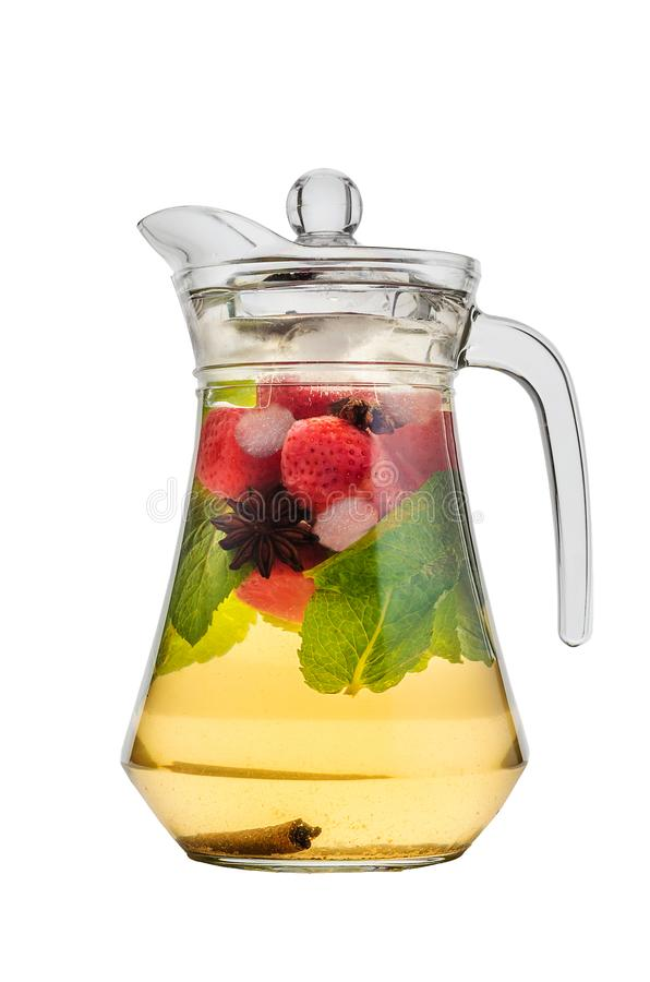 Lukrowa herbata w szklanym dzbanku fotografia royalty free