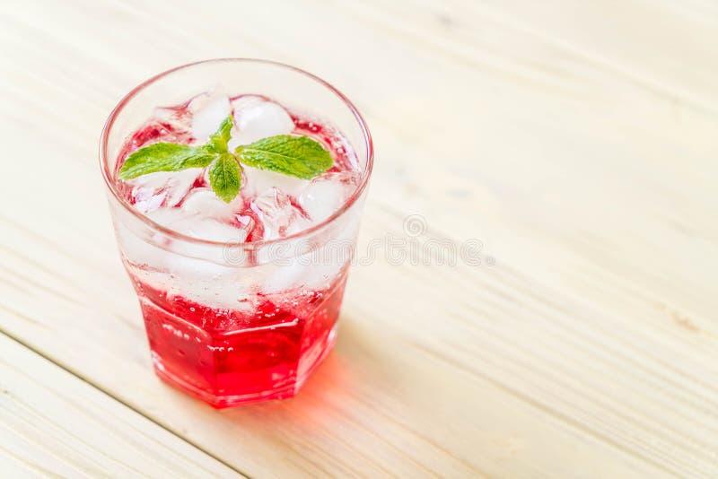 Lukrowa truskawkowa soda obraz stock