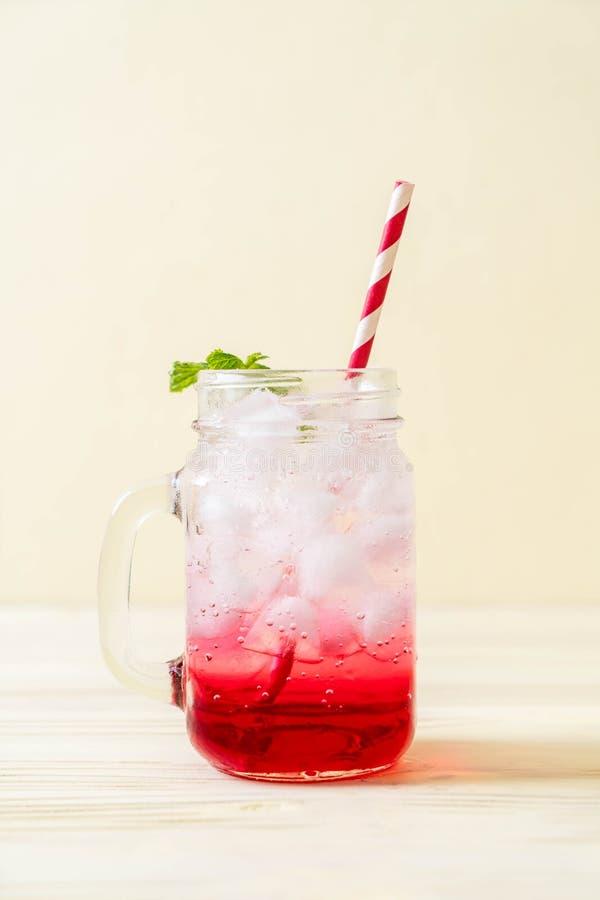 Lukrowa truskawkowa soda zdjęcia royalty free