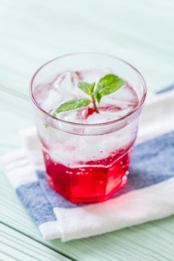 Lukrowa truskawkowa soda zdjęcie stock