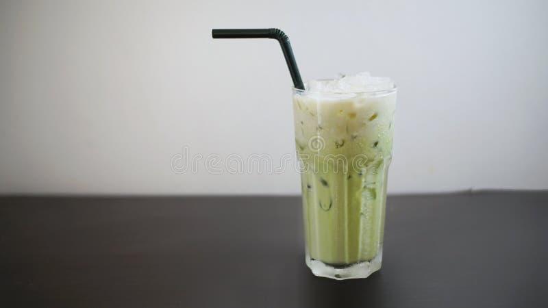 Lukrowy zielonej herbaty latte zdjęcia royalty free