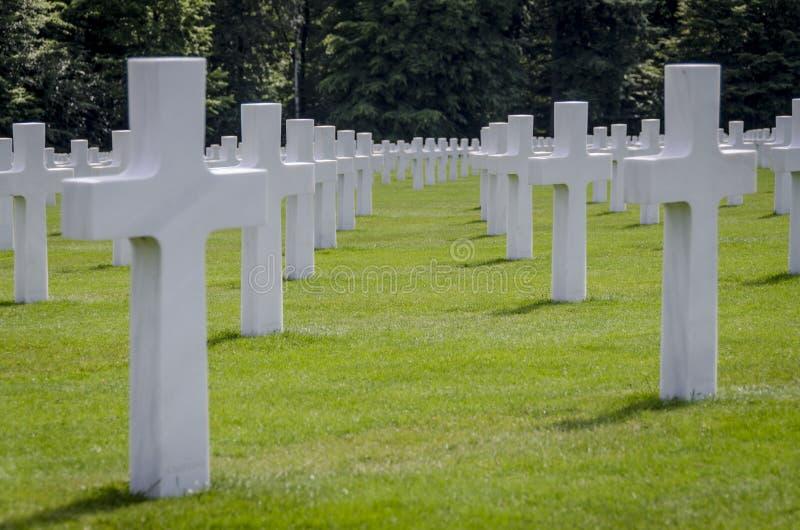 Luksemburg Amerykański Cmentarniany Wojenny pomnik zdjęcia royalty free