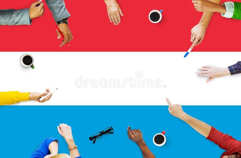 Luksemburg flaga państowowa wolności swobody Rządowy pojęcie zdjęcie stock