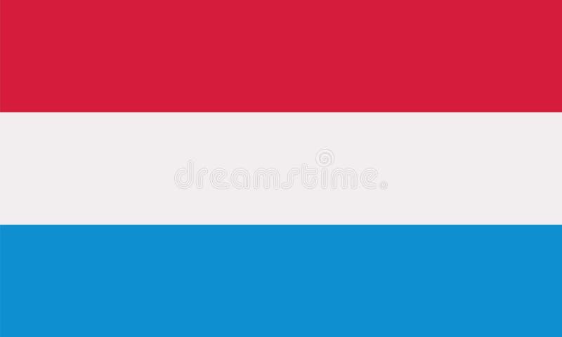 Luksemburg flaga wektor royalty ilustracja