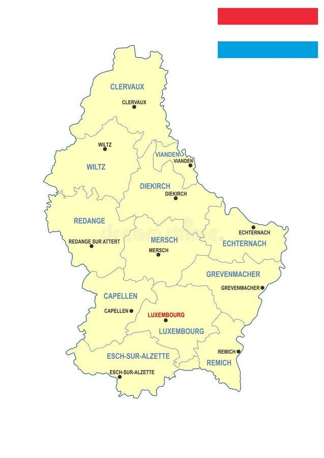 Luksemburg mapa obrazy stock