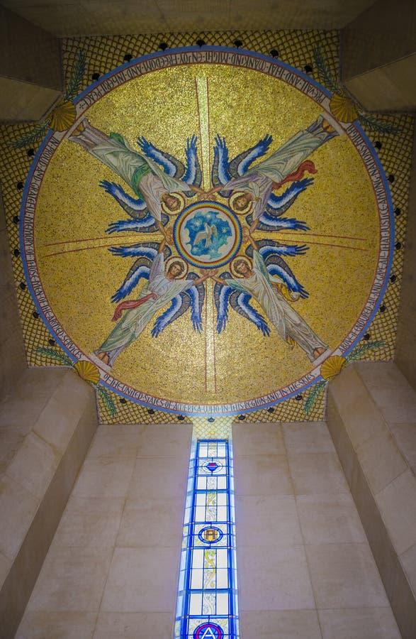 Luksemburg sufitu Amerykański Cmentarniany Pamiątkowy szczegół zdjęcie royalty free