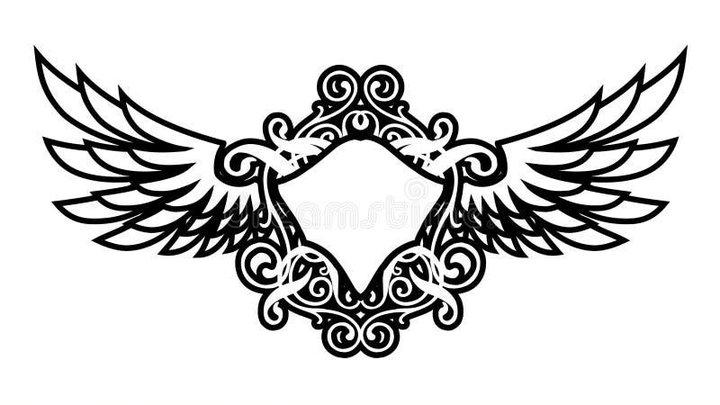 luksusów skrzydła royalty ilustracja