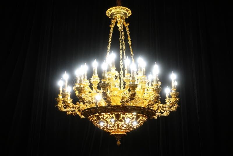 luksus świeczki świecznika dowodzona oświetleniowa lampa obrazy royalty free