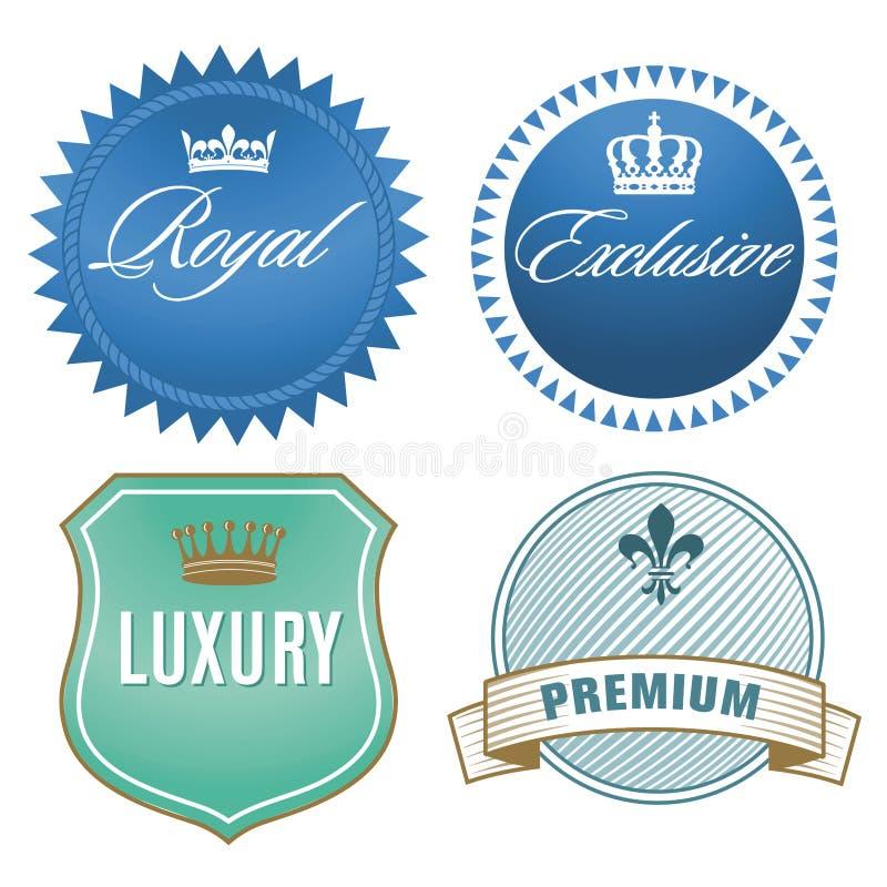 Luksus etykietki ilustracji
