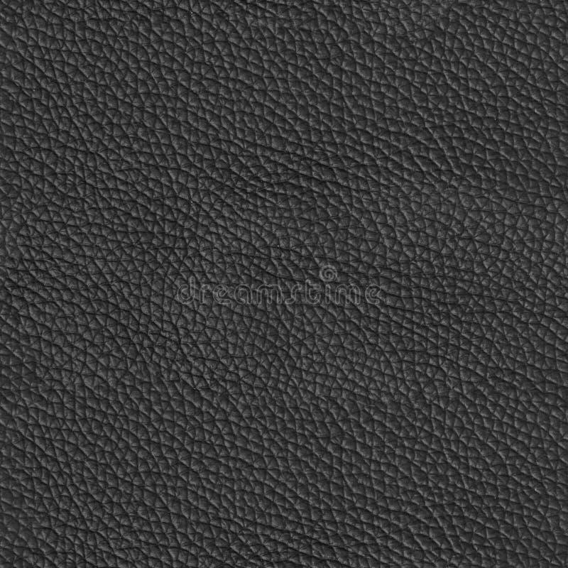 Luksusowa czarna rzemienna tekstura Bezszwowy kwadratowy tło, dachówkowy r obrazy royalty free