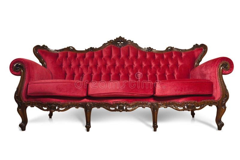 luksusowa czerwona kanapa obraz stock