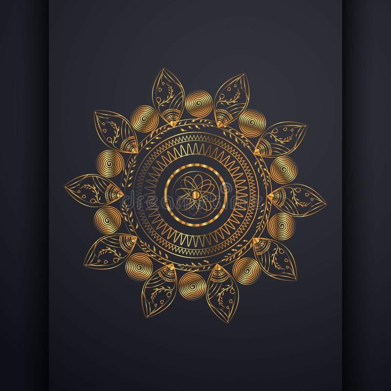 Luksusowa mandala kwiatu wzoru ilustracja ilustracja wektor