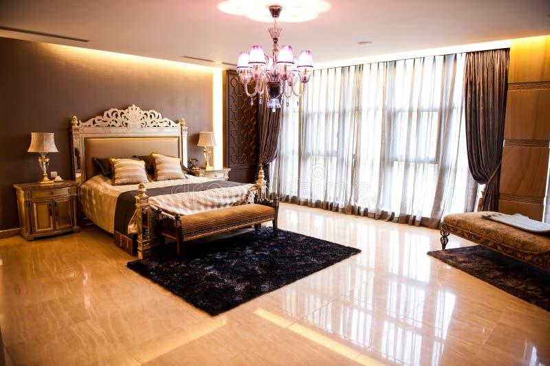 Luksusowa sypialnia obrazy stock