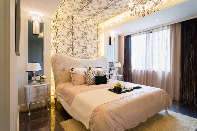Luksusowa sypialnia zdjęcia stock