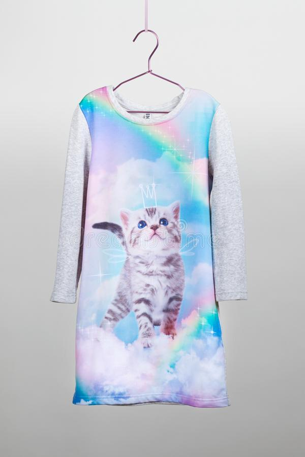 Luksusowa szyk spódnica z bluzką dla dziewczyn tiul Children kamera, magiczna różdżka, akcesoria fotografia stock