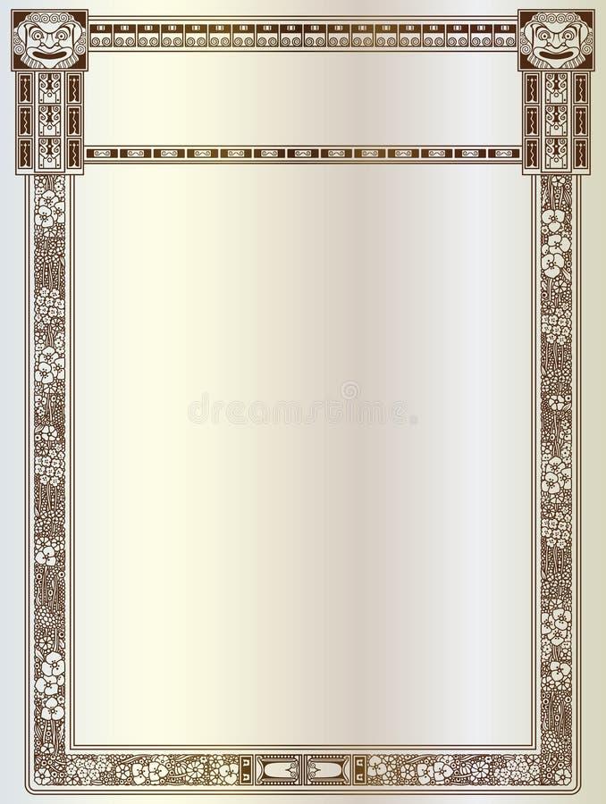 Luksusowa wektor rama z granicą w grka stylu ilustracji