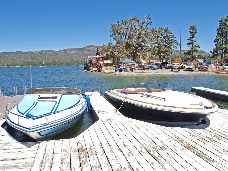 Luksusowe prędkości łodzie fotografia royalty free