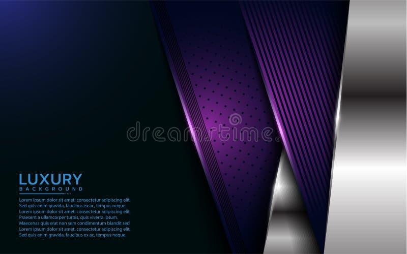 Luksusowe purpury i srebny nasuni?cie warstwy t?o ilustracja wektor