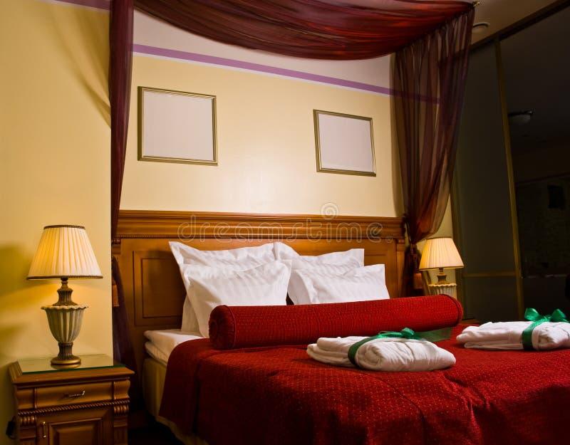 luksusowe sypialnia obrazy stock