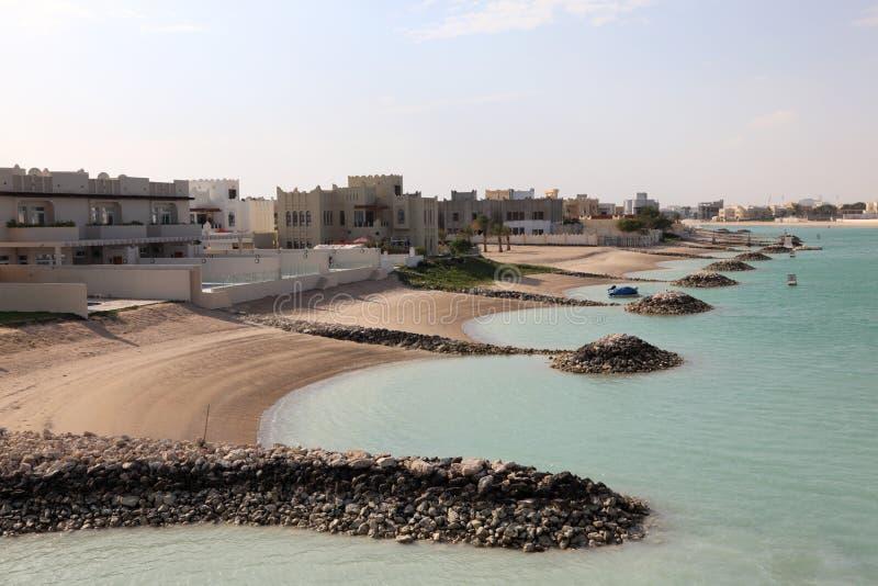 Luksusowe wille w Doha, Katar fotografia royalty free