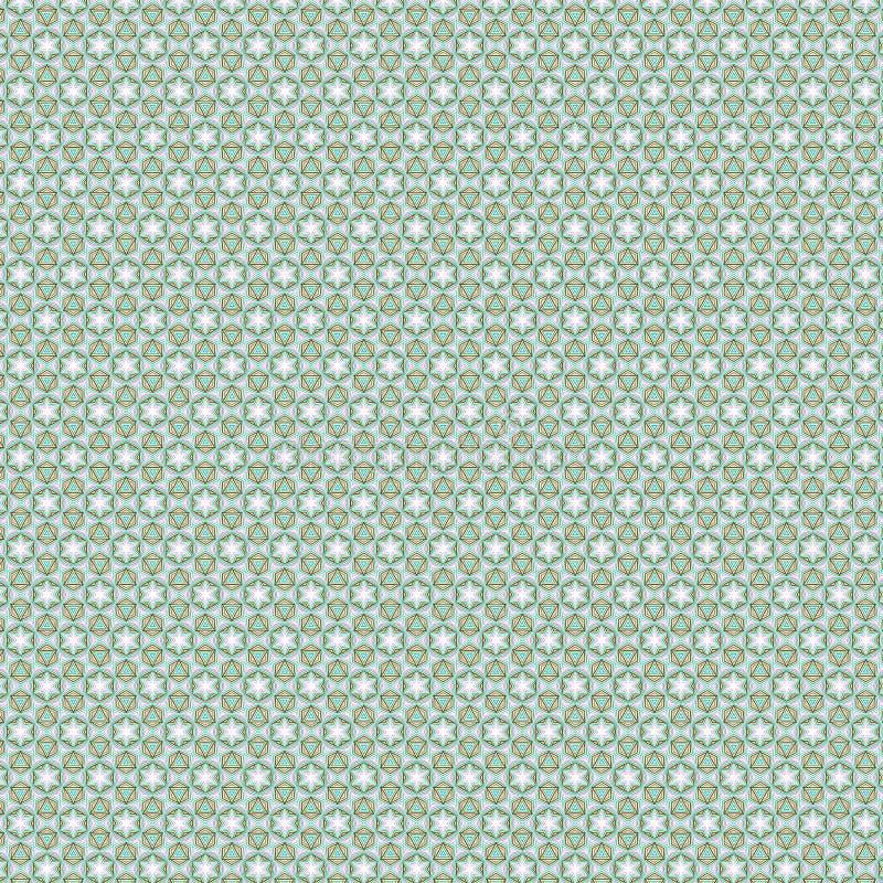 Luksusowego Abstrakcjonistycznego Kolorowego Gwiazdowego trójboka tekstury Heksagonalny Deseniowy tło ilustracji