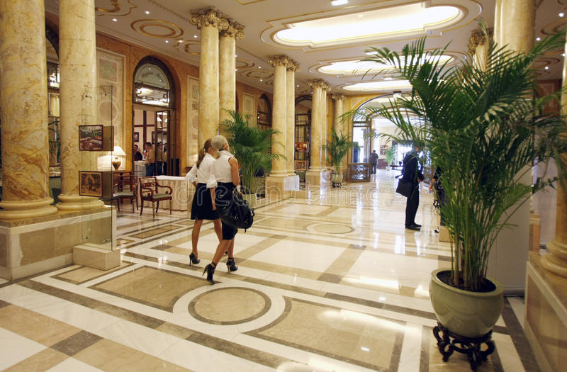 Luksusowego hotelu lobby
