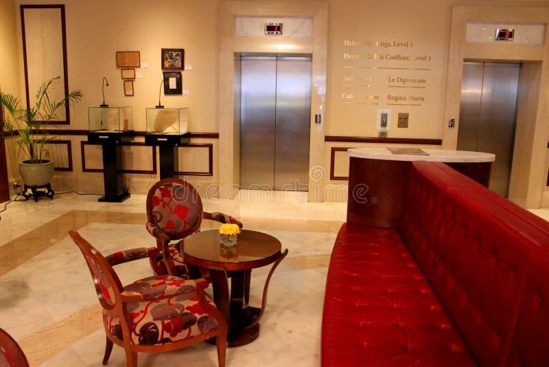 Luksusowego hotelu lobby zdjęcia royalty free