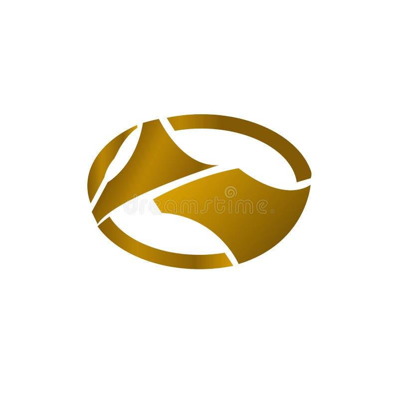 Luksusowego loga złocisty pojęcie dla otomotif contruction techniki biznesowego projekta ilustracji
