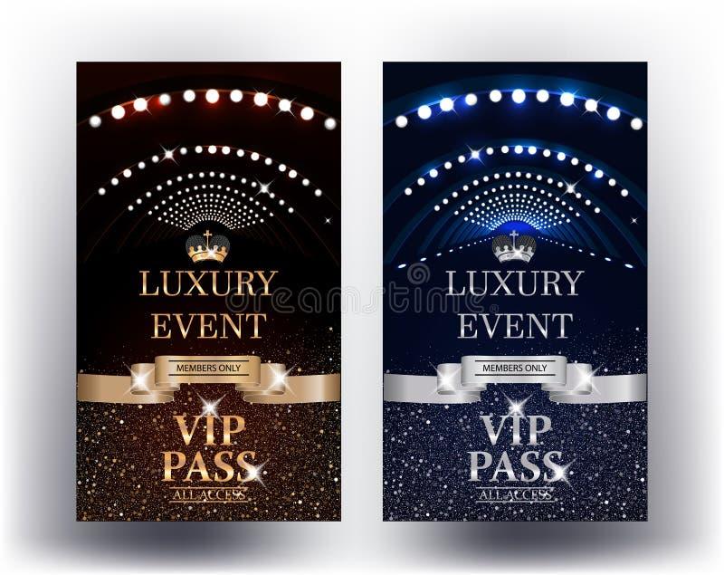 Luksusowego wydarzenia vertical Vip eleganckie przepustki ilustracji
