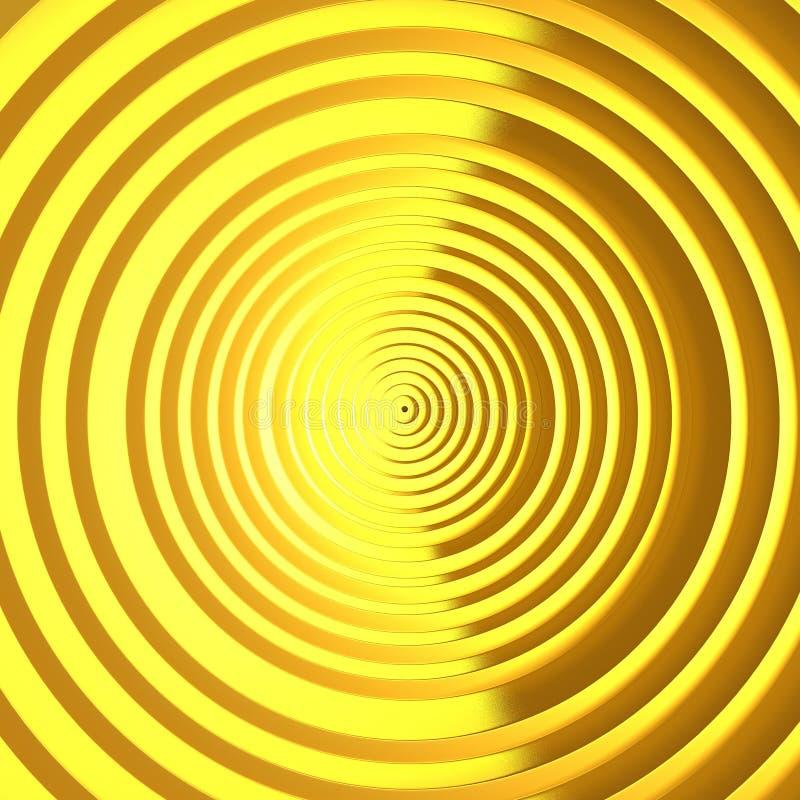 Luksusowego złotego cirrcles wzoru jaskrawy tło ilustracja wektor