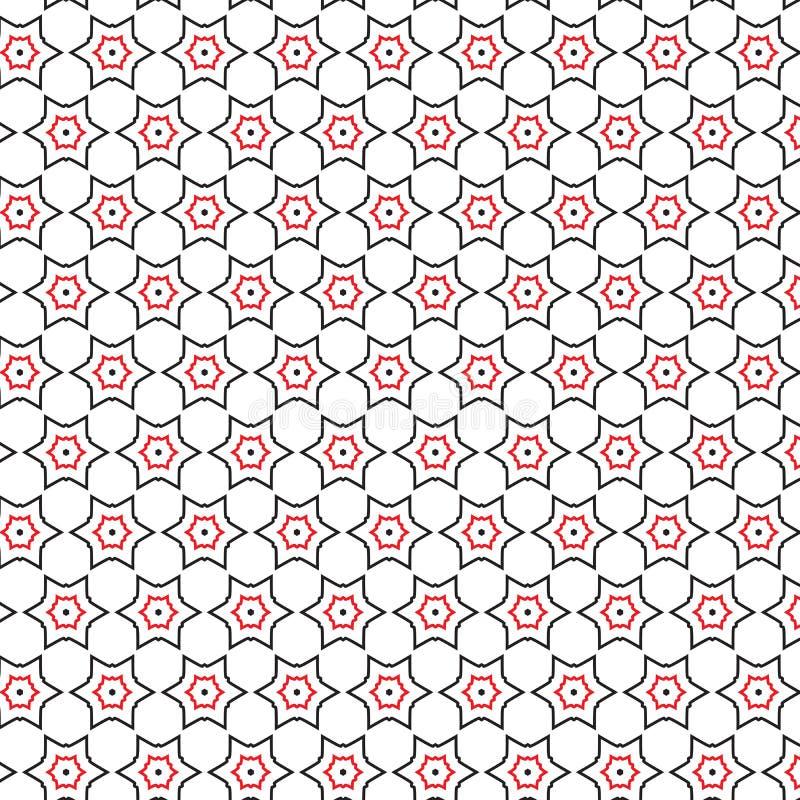 Luksusowej Abstrakcjonistycznej Czarnej rewolucjonistki gwiazdy tekstury Geometryczny Deseniowy tło ilustracji