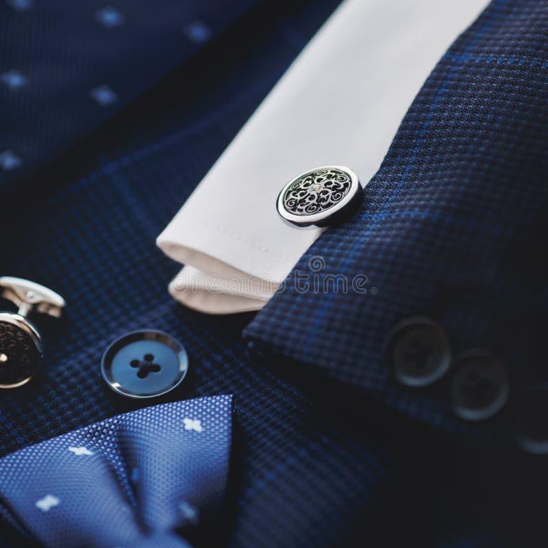 Luksusowi mężczyzna ` s cufflinks fotografia stock