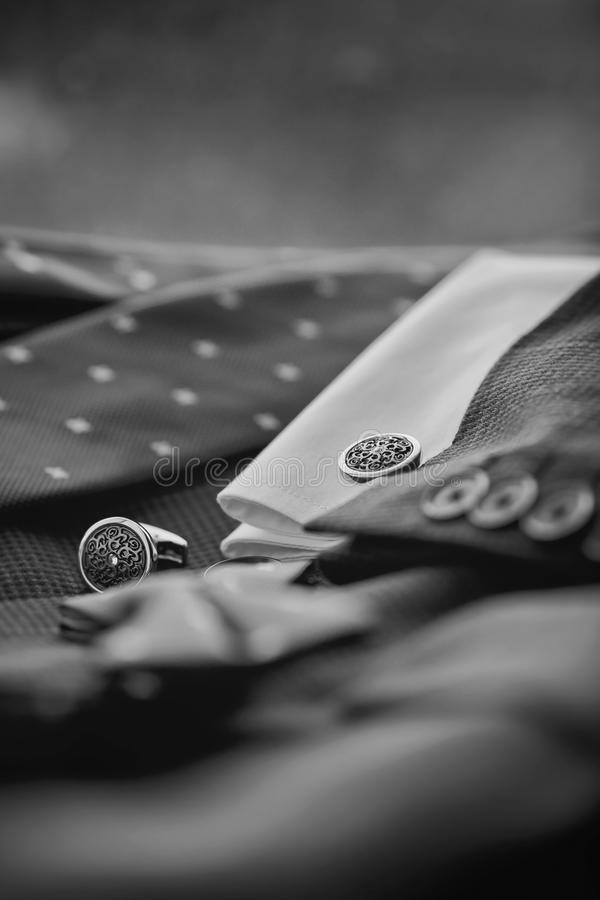 Luksusowi mężczyzna ` s cufflinks obrazy royalty free