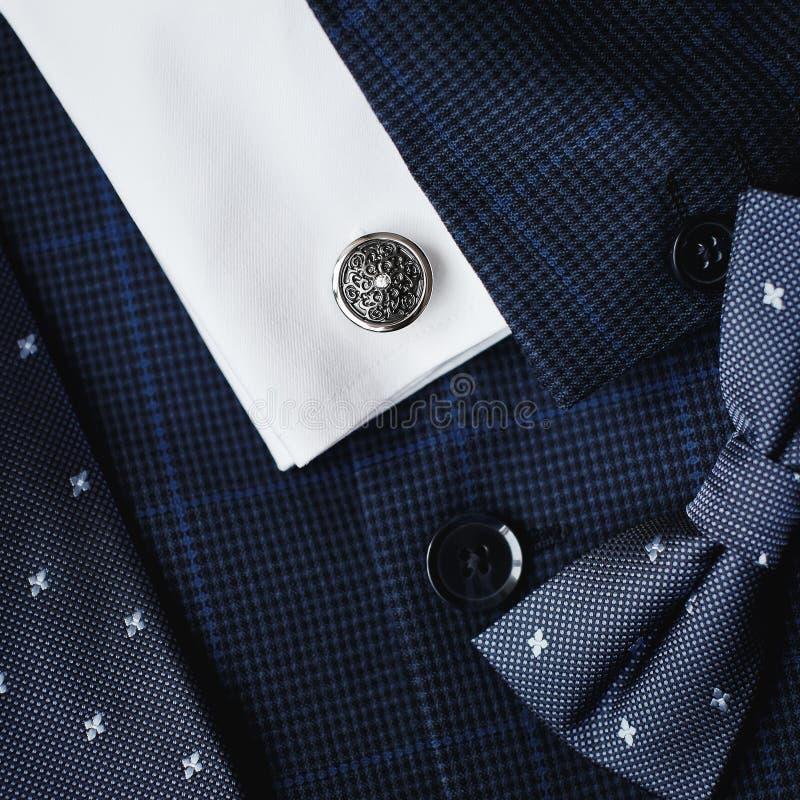 Luksusowi mężczyzna ` s cufflinks zdjęcie stock