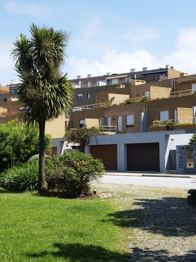 Luksusowi mieszkania przy Leça da Palmeira plażą obrazy stock