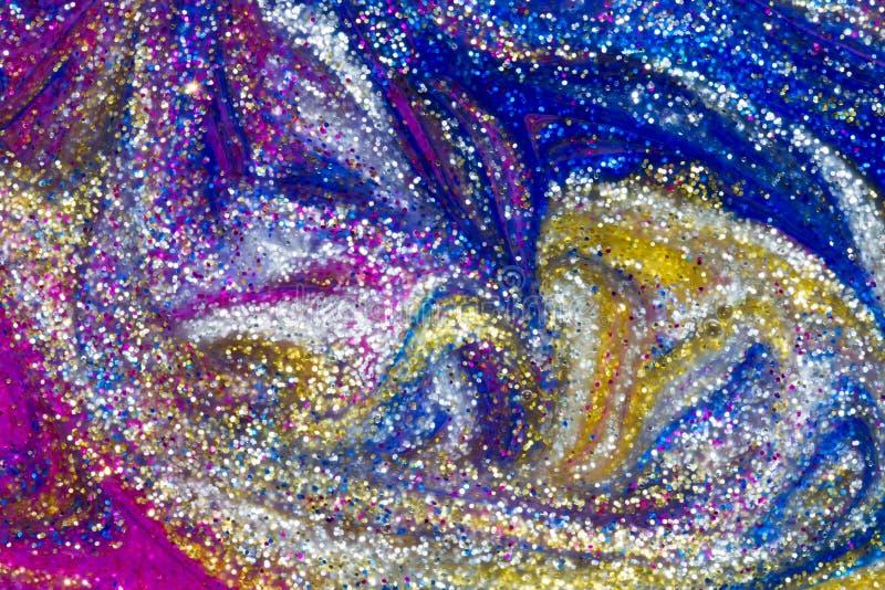 Luksusowy abstrakcjonistyczny tło błyskotliwości farby zawijasy zdjęcie royalty free