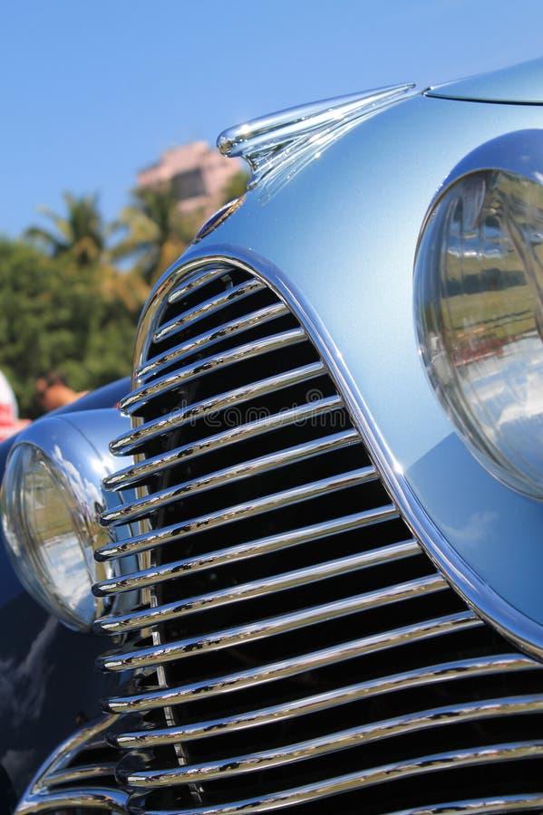 Luksusowy antykwarski francuski samochodu przodu szczegół zdjęcie royalty free