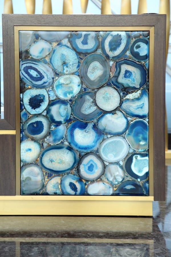 Luksusowy błękitny agat w wystroju zdjęcie stock