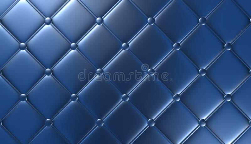 Luksusowy błękitny rzemienny meble, tapeta, ilustracja ilustracja wektor