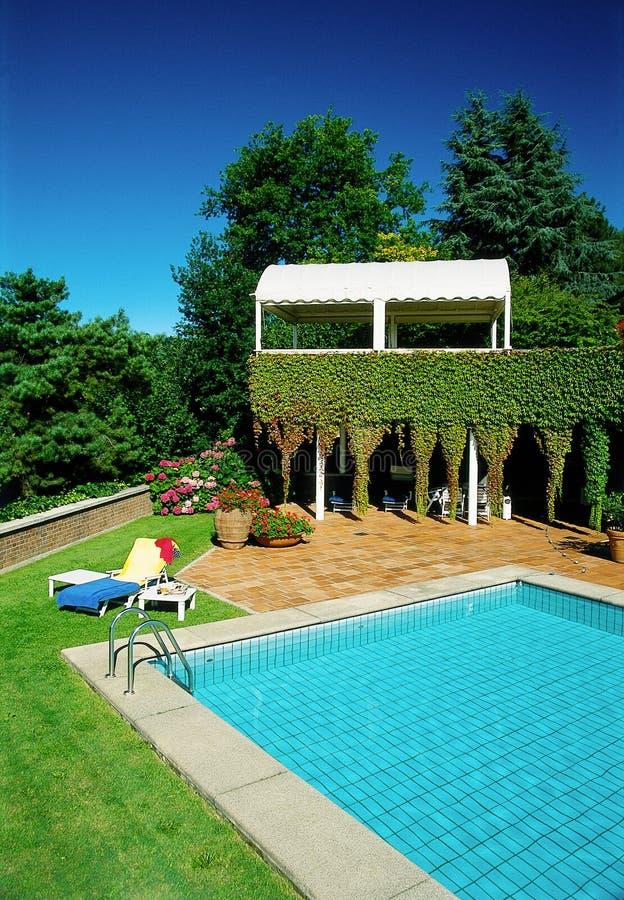 luksusowy basenu fotografia stock