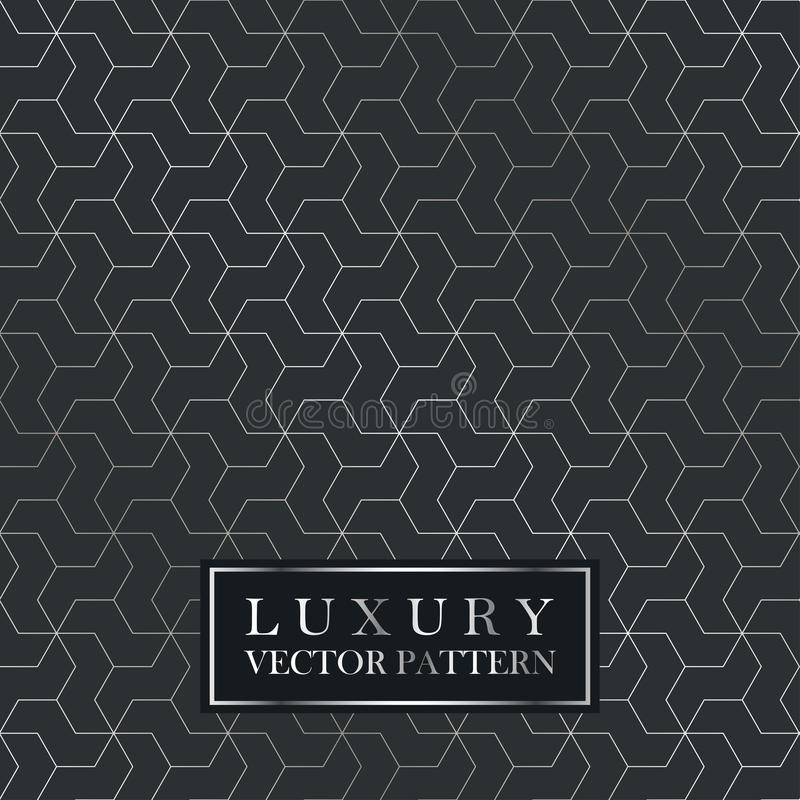 Luksusowy bezszwowy geometryczny wzór - siatka gradientu tekstura royalty ilustracja