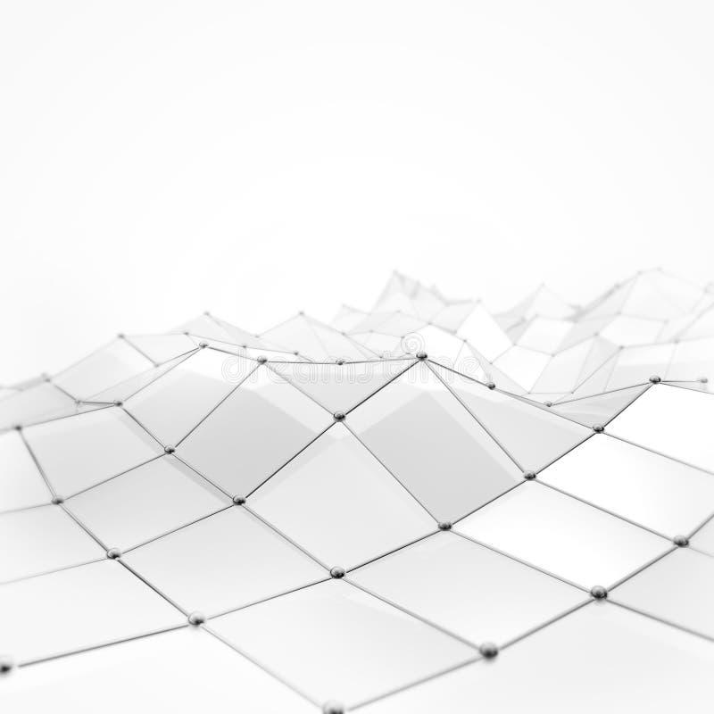Luksusowy biały abstrakcjonistyczny tło fotografia stock