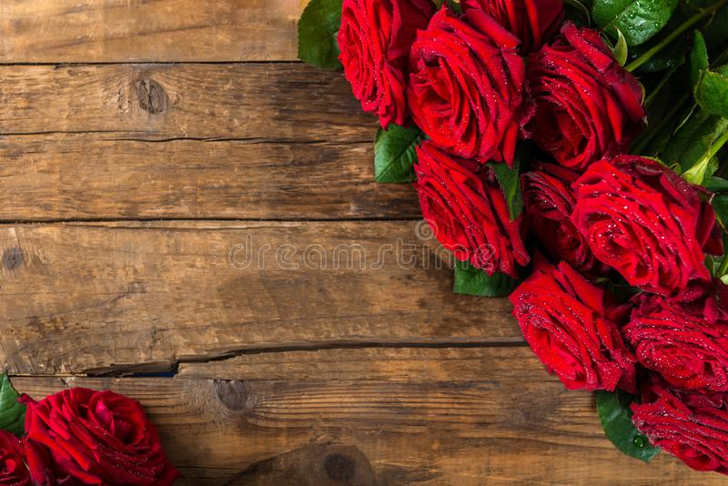 Luksusowy bukiet robić czerwone róże obrazy royalty free