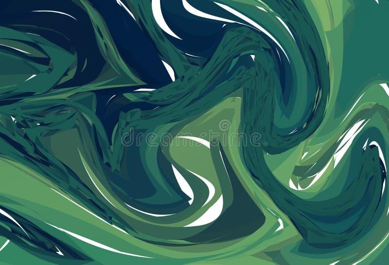 Luksusowy Ciemnozielony Marmurowy tło z zawijasami Abstrakt kamień Deseniująca tekstura Modny szablon dla zaproszenia, przyjęcie, royalty ilustracja