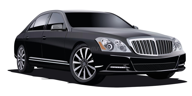 Luksusowy Czarny sedan zdjęcia stock