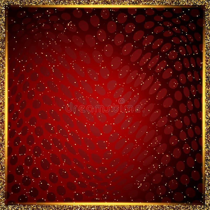 Luksusowy czerwieni i złota tło Projekt dla prezentaci, koncert, przedstawienie ilustracja wektor